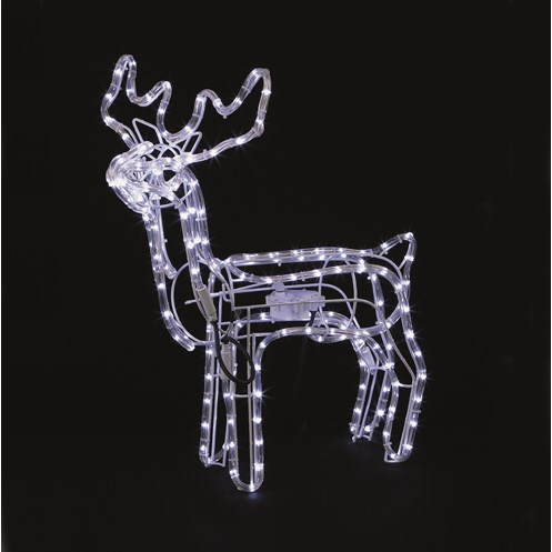 Premier decorations led rope light animated reindeer 70 for Animated lighted reindeer christmas decoration