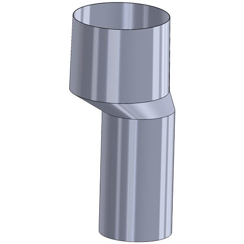 Mi Flues 50mm Offset Internal Clay Flue Adaptor Flue