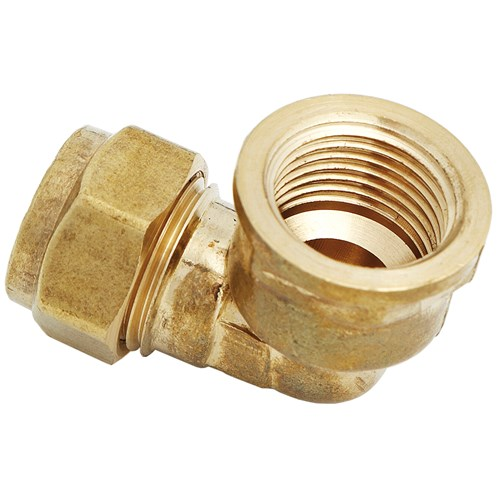 Uel compression elbow female brass pipe fitting in